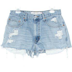 Levis Shorts Jeans Cut Offs Distressed Blue 31 CX